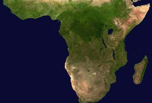 Skywire offers satellite broadband across sub-Saharan Africa. (Image source: NASA/Wikimedia Commons)