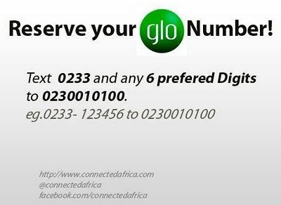 Glo Mobile Ghana Limited recently announced the launch of its 'Reserve Your Number' campaign